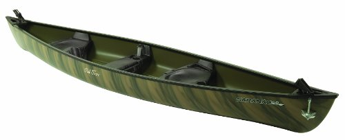 Old Town Saranac 160 Angler Recreational Fishing Canoe, Camo, 16-Feet