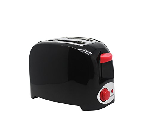 Triomph ETF1529 Grille-Pain avec 2 Fentes Noir/Rouge 750 W