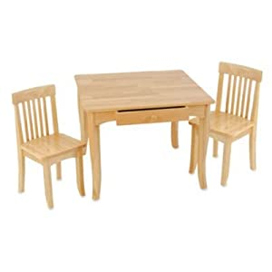 kidkraft avalon natural table and chairs set. Black Bedroom Furniture Sets. Home Design Ideas