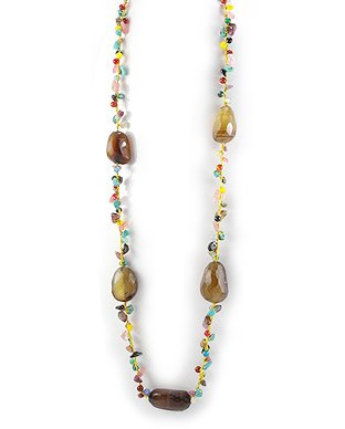 December Birthday! Quartz, Agate and Turquoise Necklace