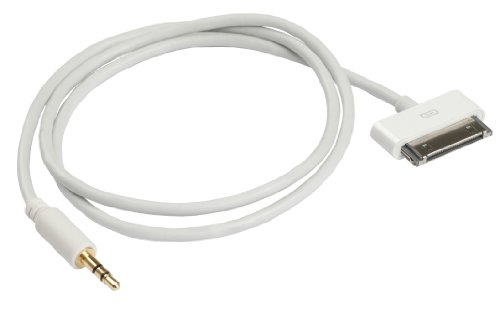 Ziotek ZT1900659HC1 2-Feet Ipod 30Pin To 3.5Mm Audio Cable, White