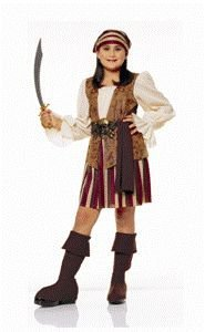 Peasant Pirate Child Halloween Costume Size 4-6 Small - 1