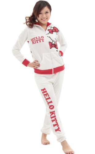 [Hello Kitty] just behind ボアパーカー suit Ribbon Kitty ladies (ivory M).