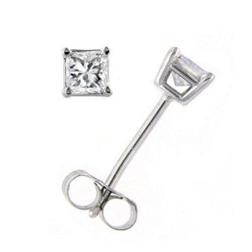 black pearl jewelry 10k gold princess cut diamond stud. Black Bedroom Furniture Sets. Home Design Ideas