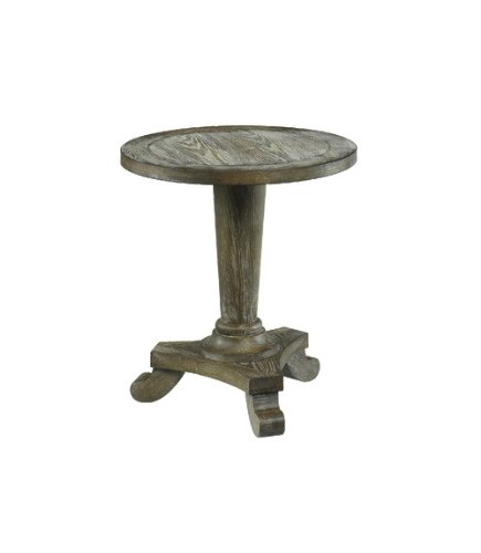 Image of Hammary 090-349 Hidden Treasures Driftwood Round Pedestal End Table (090-349)