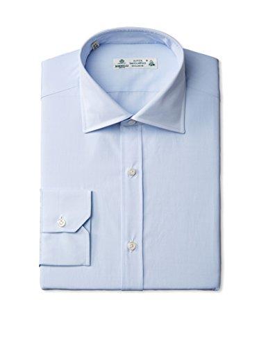 Borrelli Men's Spread Collar Dress Shirt