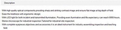 GOWE binocular stereo biology microscope extra wide field eyepiece EW10*/22