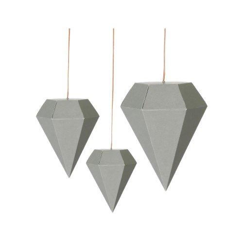 ferm Living Paper Diamonds grey 3er Set Art.24113