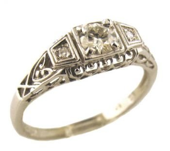 Sterling Silver Cubic Zirconia Wedding Rings Sets 35 Cool Art Deco Style Sterling