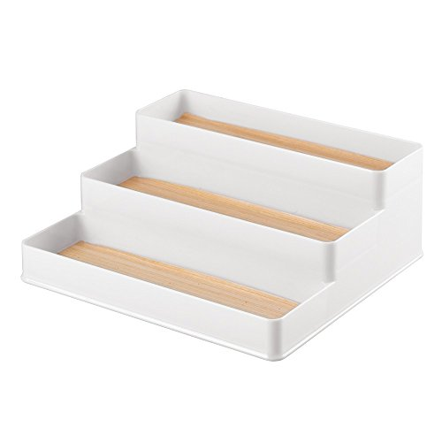 InterDesign RealWood Spice Rack Organizer for Kitchen Countertop, Cabinet, Pantry - Large, White/Light Wood Finish (Countertop Organization compare prices)