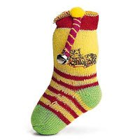"Spot ""Spotnips"" Neon Sock with Catnip & Bell Cat Toy"