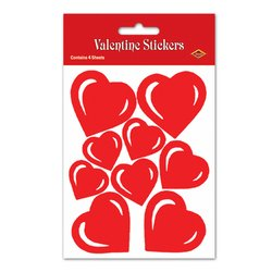 Valentine Heart Sticker Sheets Party Accessory