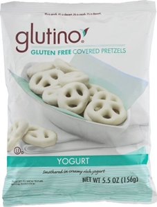 Glutino Gluten Free Covered Pretzels Yogurt 5.5 OZ (Pack of 24) (Glutino Yogurt compare prices)
