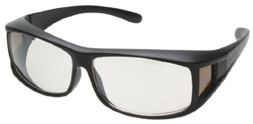 花粉防塵グラス EYE SAVER(アイ・セーバー) オーバーグラスタイプ UV防止レンズ採用 マットブラック