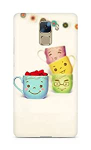 Amez designer printed 3d premium high quality back case cover for Huawei Honor 7 (Cute Cup)