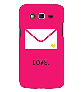 Love message in Envelope 3D Hard Polycarbonate Designer Back Case Cover for Samsung Galaxy Grand 2 :: Samsung Galaxy Grand 2 G7105 :: Samsung Galaxy Grand 2 G7102