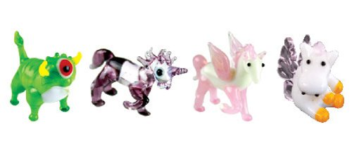 Looking Glass Miniature Collectible - Cyclops / Unicorn / Pegasus (4-Pack)