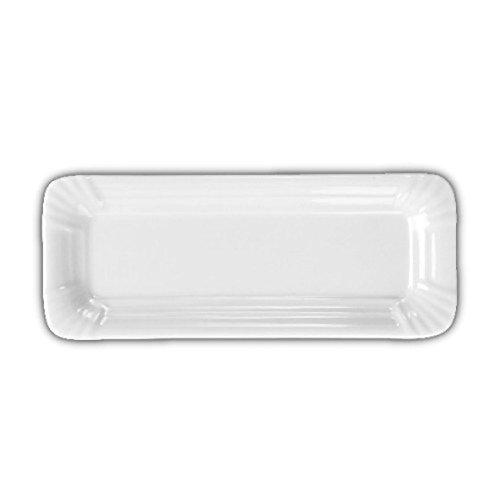 """'Holst Porcelaine SL 006Rectangle plaque en carton aspect """"Snack Line, blanc, 20x 8x 1.3cm"""