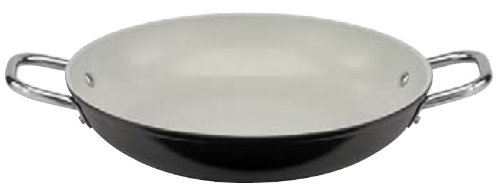 Paderno World Cuisine 9-1/2-Inch Ceramic Coated Paella Pan