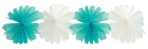 Party Partners Design Aqua Blue Honeycomb Tissue Garland Decoration