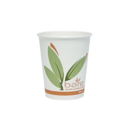 SOLO 370RC-J8484 Bare Eco-Forward Single-Sided Poly Paper Hot Cup, 10 oz. Capacity (Case of 1,000) (Eco Paper Coffee Cups compare prices)