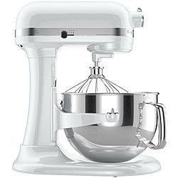 KitchenAid Professional 600 Series 6-Quart Stand Mixer KP26M1XQWH 6 Quart White Large 10-speed