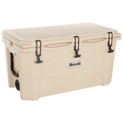 Grizzly Coolers Tailgating Cooler, TAN, 75-Quart