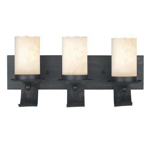 Black friday Royce Lighting RV8230/3-19 Three-Light Vanity Espresso with Alabaster Globes Cyber ...