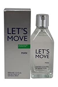 Let's Move Man by United Colors of Benetton for Men - 3.3 oz EDT Spray