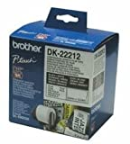 Brother DK22212 - P-TOUCH TAPE WHITE FILM 62MMX15.24M