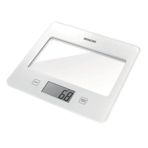 Sencor 41000751 SKS 5020WH Balance de Cuisine avec Surface en Verre Blanc