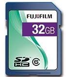 Fujifilm 32GB SDHC Class 6; 32768 MB; Secure Digital High-Capacity (SDHC); Blue (P10NM00530A)