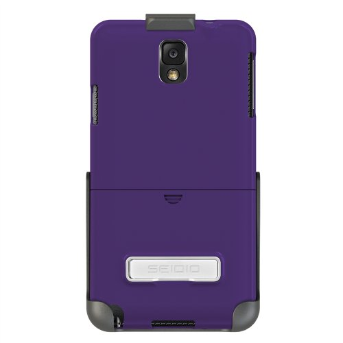 Seidio SURFACE Case with Metal Kickstand and Holster Combo for  Samsung Galaxy Note 3 - Retail Packaging - Amethyst (Samsung Note 3 Platinum Case compare prices)