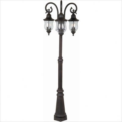 path lights premiere 3 light outdoor post lamp lighting fixture. Black Bedroom Furniture Sets. Home Design Ideas