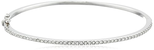 Judith Jack Sterling Silver Crystal Hinged Bangle Bracelet (Judith Jack Marcasite Jewelry compare prices)