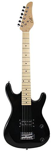 Bridgecraft 36-Inch Junior Electric Guitar With Gig Bag - Black