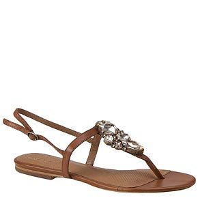 e1322ba09aaa2 Stylish and comfortable flat thong sandals decorated with a cluster of  color coordinated stones