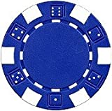 25 Clay Composite Dice Striped 11.5 gram Poker Chips, Blue