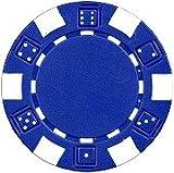 Da Vinci 50 Clay Composite Dice Striped 11.5-Gram Poker Chips (Blue)