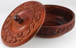 AzureGreen RB339 Wooden Ritual Bowl With Lid (Wooden Bowl With Lid compare prices)