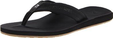 Quiksilver Men's Carver Nubuck 4 Sandal,Black,7 M US