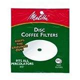 Melitta Disc Coffee Filters For Percolators White 3-1/2 In. Dia. 100 Count