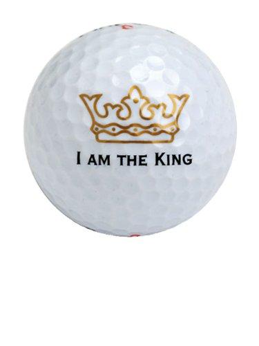 3er Set freundliche Golfbälle -I am the King