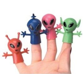Rhode Island Novelty Educational Products - Alien Finger Puppets (1 dz) - 2 Inches - 1