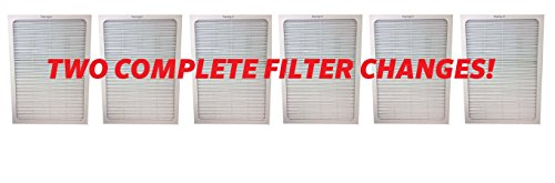 6 Filters - 2 Complete Sets - Air Purifier Set of Filters to fit ALL Blueair 500 and 600 Series ; Designed & Engineered By Vacuum Savings