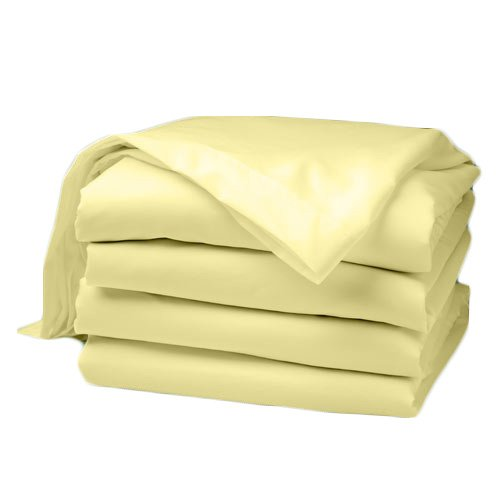aBaby Daycare Poly Cotton Crib Sheets, Yellow, Fitted