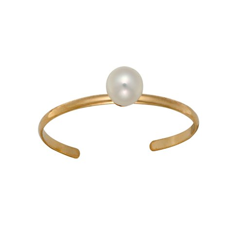 14k Yellow Gold Round Freshwater Cultured Pearl Children's Adjustable Ring (3mm )