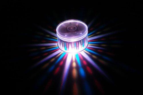Set of 2 LiteRays LED Light Up Projection LitePod Table Center Piece/Drink Accessory-Carousel