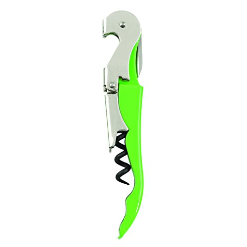 True Fabrications Truetap Metal, Double Hinged, Easy To Use, Restaurant Waiter Quality Compact Corkscrew With Foil Cutter - Lime Green front-945397
