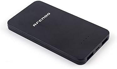 AFENDO® tragbare Ladegerät Pack 5000mAh Ultra-Kompakt Externe Mobile Backup Batterie USB- Ausgang Portable smart Starker Power Bank (Externer Akku-Pack und Ladegerät) Dual USB (2,0 A / 1,0 A Ausgang)mit hoher Kapazität Notfall Ladegerät für iPad, iPad 2,3, iPhone 6, 5S, 5C, 5, 4S, 4, 3Gs 3G, 3, iPod, Blackberry, HTC, Android, Samsung, Nokia, Sony, Motorola, alle Generationen Mp3 Mp4 Player und Smart Phones und Bluetooth-Lautsprecher, Bluetooth-Kopfhörer, die meisten Bluetooth-Geräte 5V und anderen digitalen Geräten (Apple-Adapter-30-Pin-und lightning, nicht enthalten) mit 18 Monate Herstellergarantie. (schwarz)